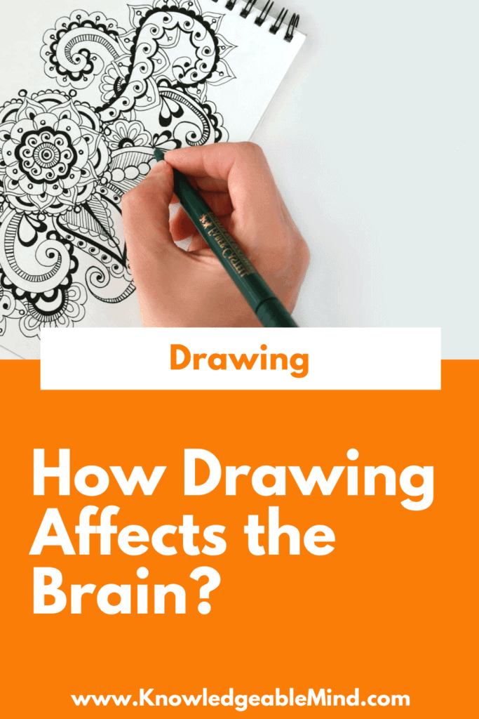 how drawing affects the brain (pinterest)