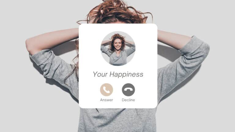 Copy of Grey Minimal Modern Happiness Call Phone Notification Post